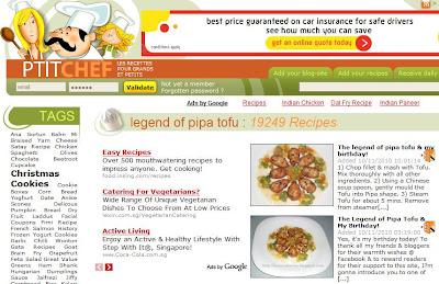 petitchef features pipa tofu recipe