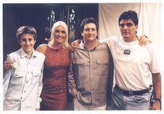 con Sandra Smith y Santi Olmedo