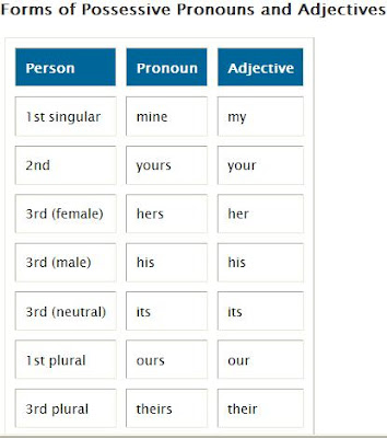 pronoun and adjectives