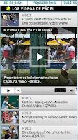 Sección Los vídeos de Pádel en el diario Marca