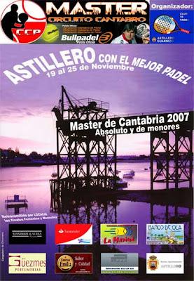 Cartel del Master de Cantabria 2007 de pádel