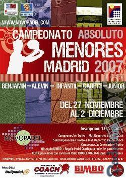 Cartel del Campeonato Absoluto de Madrid de Menores 2007