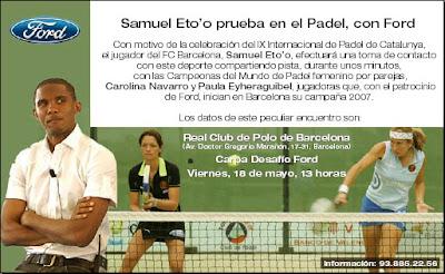 Samuel Eto'o en los Internacionales de Catalunya de Pádel