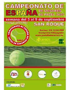 Campeonato de España de menores de pádel 2007