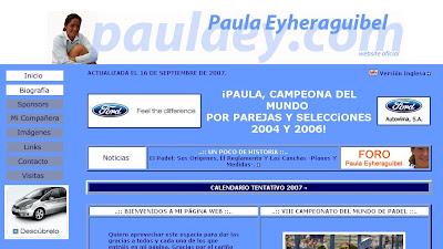 Antigua web de Paula Eyheraguibel