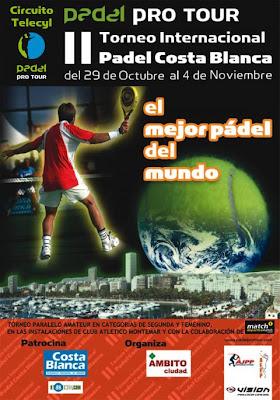 Cartel del II Torneo Internacional Costa Blanca de pádel
