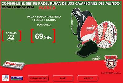 promocion set de padel puma para el diario marca