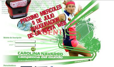 Próxima inaguración de la web oficial de Carolina Navarro