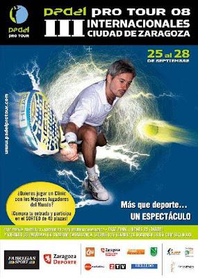 Cartel del Internacional Ciudad de Zaragoza del circuito Pádel Pro Tour