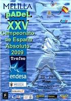 Cartel Campeonato de España de Padel 2009