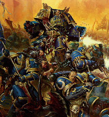 The Ultramarine Legion led by Chapter Master Marneus Calgar
