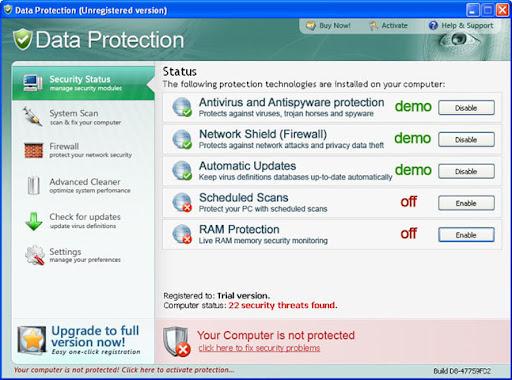 Antivirus and antispyware protection not updating