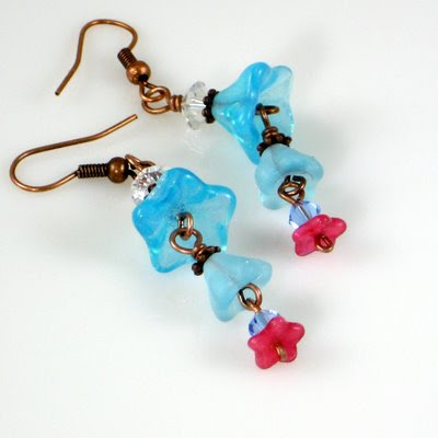 Blue Bells earring