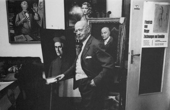 Federico in seinem Atelier in Seveso 1981