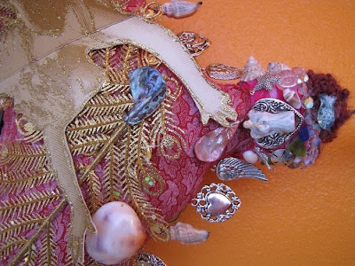 art dolls, spirit dolls, shaman dolls, camilla la mer, hysterectomy, the sea, angels, bead embroidery, beading, jungian psychology, jungian art