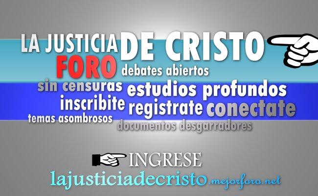 La Justicia de Cristo Foro