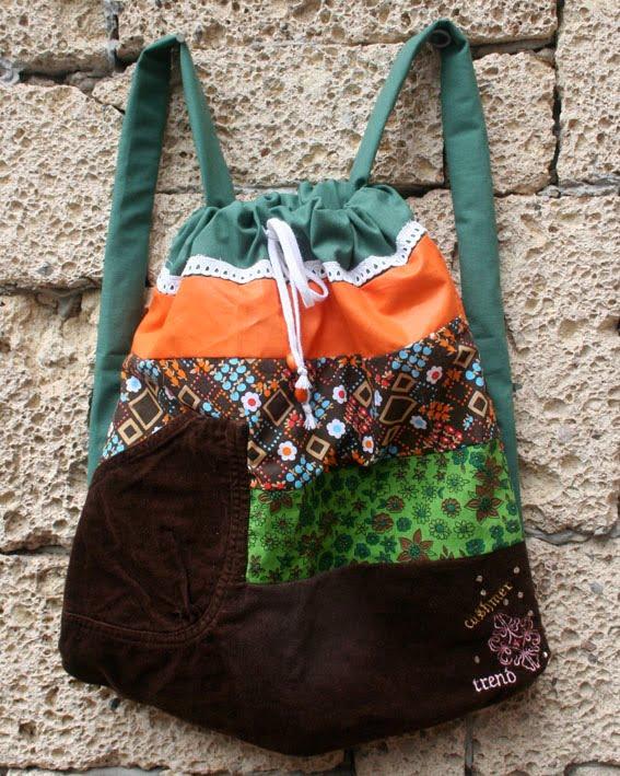 ropa reciclada bolsos encantadores