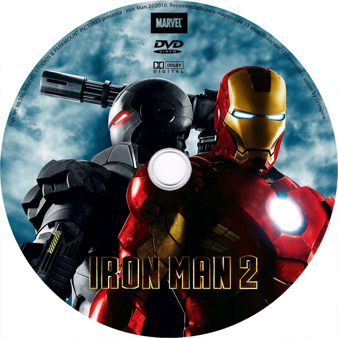 Iron Man 2: VIDEO CLUB VIRTUAL: PELICULAS CON DVD ESTAMPADO, CAJA Y