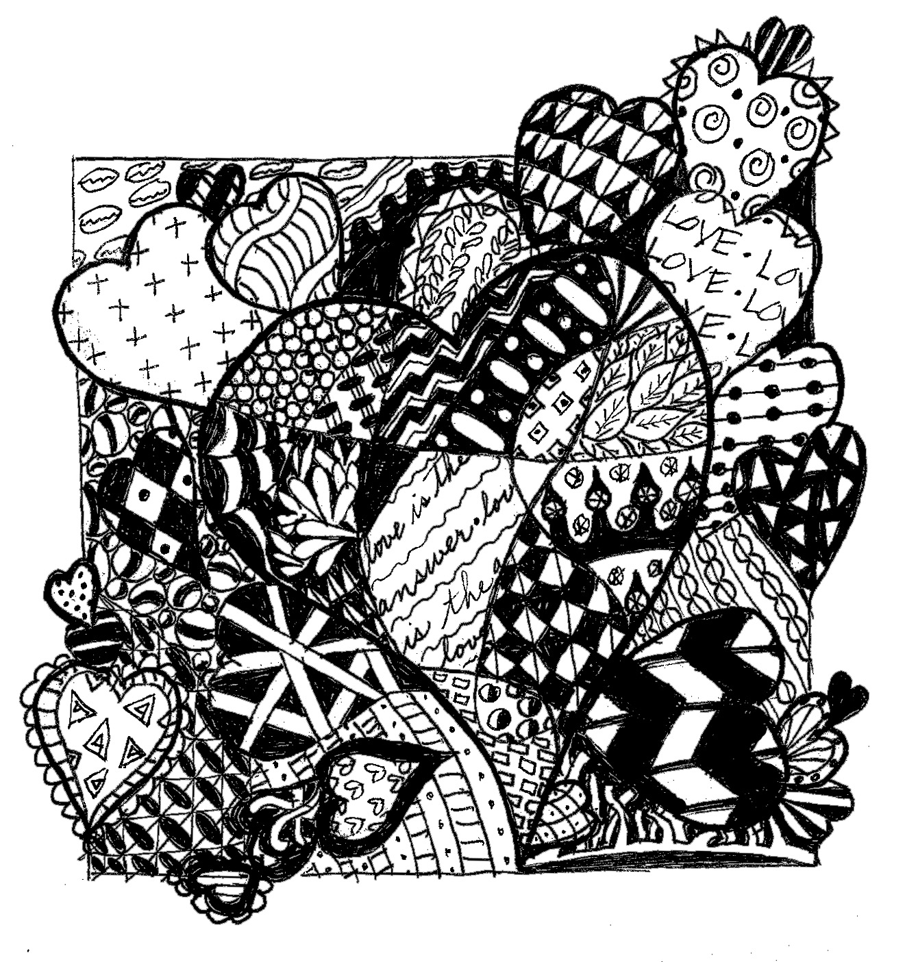 Free printable zentangle coloring pages - Coloring Pages Zentangle Free Images Coloring Design