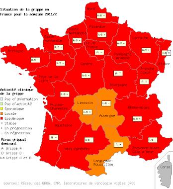 L'évolution de la grippe en France