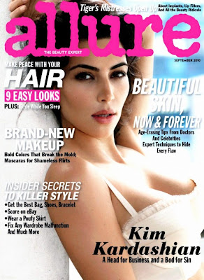 Kardashian Magazine on Kim Kardashian Allure Magazine Cover Photo September 2010 Kim
