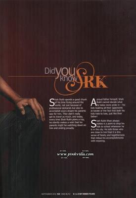 Shahrukh Khan Published on the Latest Edition of Cineblitz
