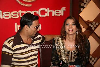 Aishwarya Rai & Akshay Kumar visit at Sets of Master Chef