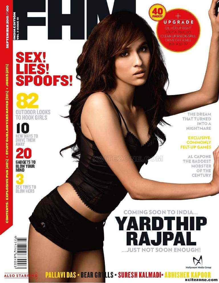 Yardthip Rajpal on the cover of FHM INDIA Magazine September Issue