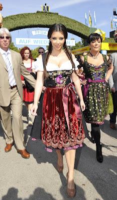 Kim Kardashian at Oktoberfest in Munich with here mum pictures