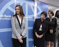 Anne Hathaway Monetary Fund event in Washington