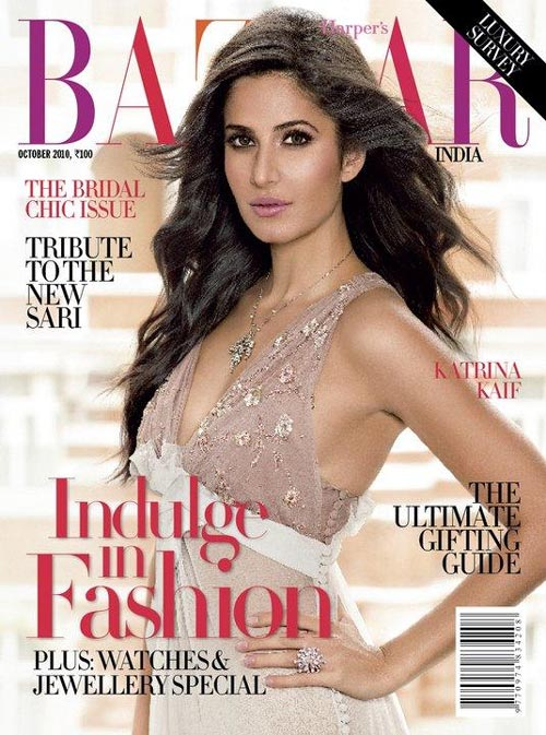 Katrina Kaif Harper's Bazaar October 2010 Photos