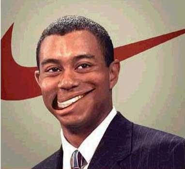 Tiger Woods Smiles Nike