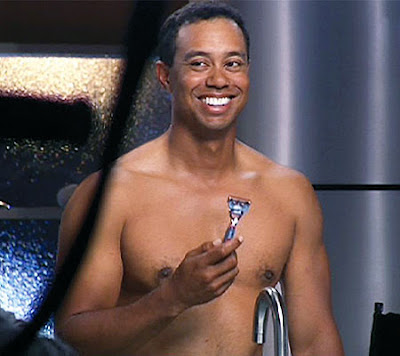 Tiger Woods Shaved