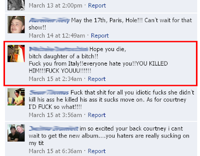 Courtney Love Fan Hatred Comments 2