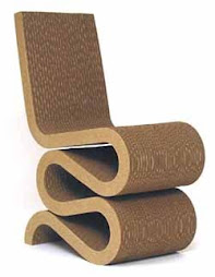 Fauteuil de Franck  Gehry en carton