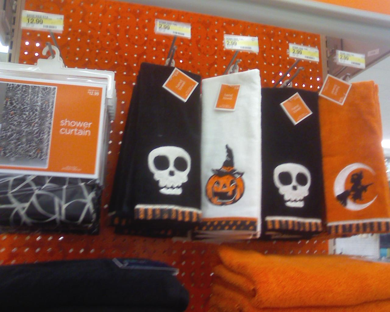 halloween things at target and jo ann fabrics - Halloween Bath Towels