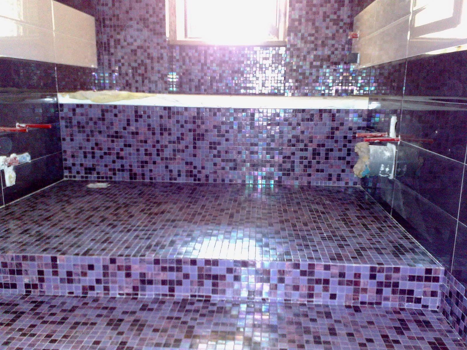 Piastrellista per passione una bella fusione di - Piastrelle in mosaico per bagno ...
