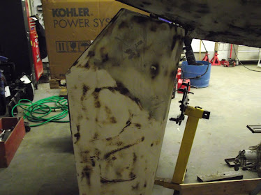 rudder paint removed