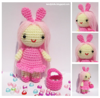 Amigurumi Dolls Pattern Free : Free Amigurumi Easter Patterns for You! Curly Girls ...