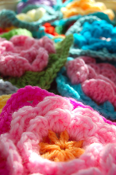 Photo of the Granny Square With Aster Flower Center