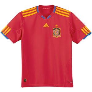 camiseta de la selección española con la estrella de campeones del mundo