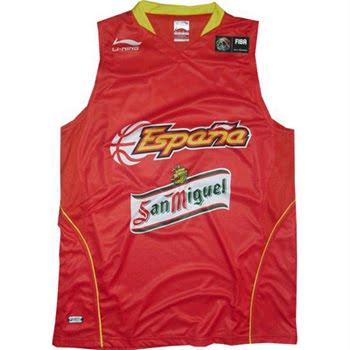 camiseta de la selección española de baloncesto