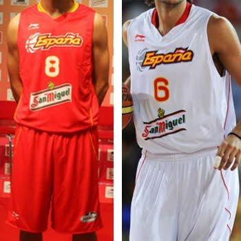equipación de la selección española de baloncesto