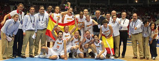 selección española de baloncesto femenina medalla de bronce