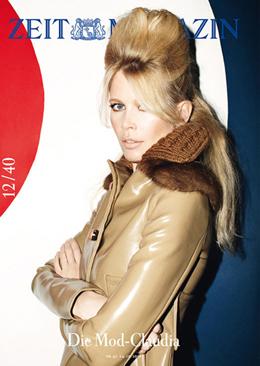 Claudia Schiffer modelo de portada Zeit Magazin