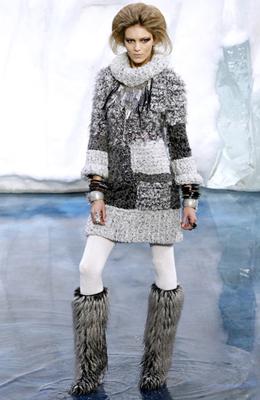 vestido de punto Chanel