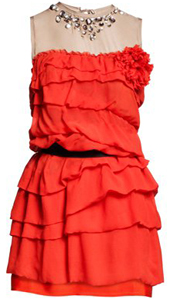 vestido rojo Lanvin H&M