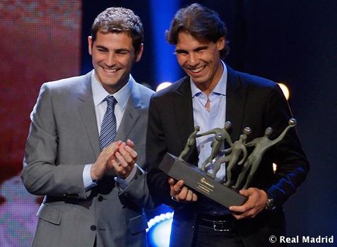 Rafa Nadal Premio Alma 2010 Extraordinario Fundación Real Madrid