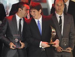 Iniesta Xavi y Messi finalistas Balón de Oro 2010