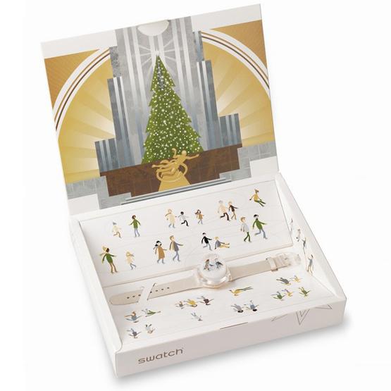 reloj Swatch Snow Dance para Navidad